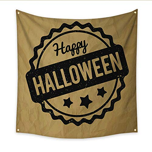 Anniutwo Flower Tapestry Happy Halloween Rubber Stamp Black