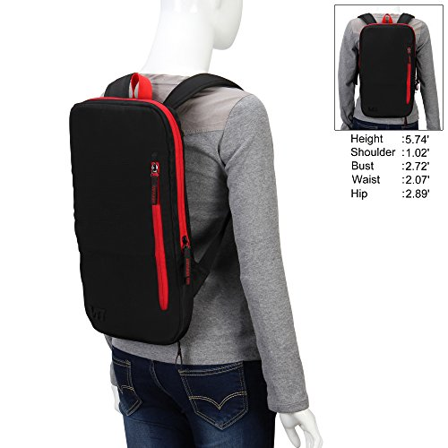 Hynes Eagle 13-inch Lightweight Slim Laptop Backpack (Black ...