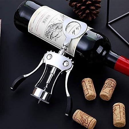 KGDC Sacacorchos de Camareros Mejor Abridor de Acero de Lujo del ala Inoxidable Camarero abrebotellas for los Amantes del Vino camareros Abridor de Botellas