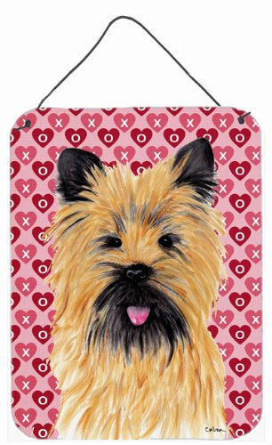 16 x 12 Multicolor Carolines Treasures SC9264DS1216 Cairn Terrier Hearts Love and Valentines Day Wall or Door Hanging Prints