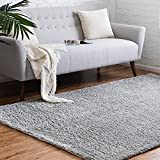 Rugs.com Soft Solid Shag Collection Area Rug