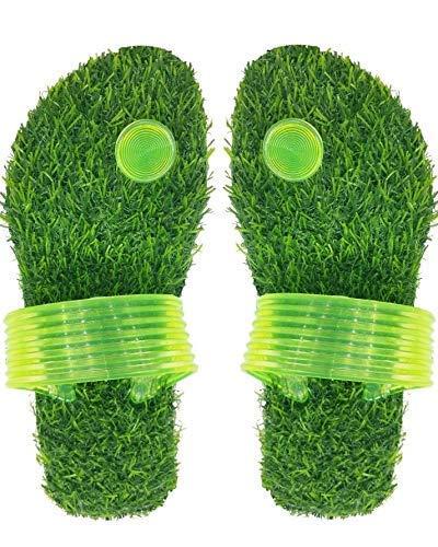 green grass slippers