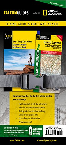 Best Easy Day Hiking Guide and Trail Map Bundle: Grand Canyon National Park (Best Easy Day Hikes Series)