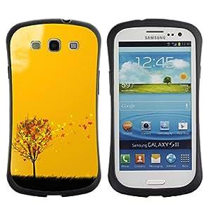 Paccase / Suave TPU GEL Caso Carcasa de Protección Funda para - Autumn Seasons Yellow Orange Tree Field Art - Samsung Galaxy S3 I9300
