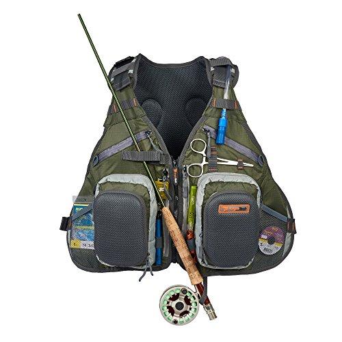 Anglatech fly fishing backpack vest combo premium for Fishing vest amazon