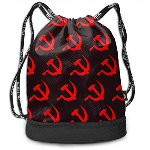 Price comparison product image TREEWw Red Hammer and Sickle Men & Women Sport Gym Sack Drawstring Backpack Bag