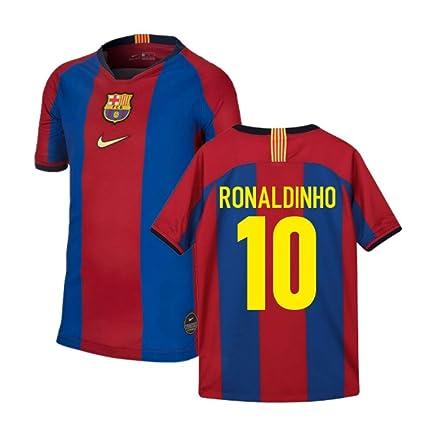free shipping 32406 3e1d6 Amazon.com : 1998 Barcelona Celebration Nike Football Soccer ...