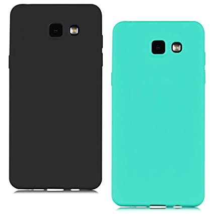 [2 Pieces] Funda Samsung Galaxy A3 2016 (A310) Carcasas Flexible TPU Silicona Mate Opaco Ultra Fina Ligero Gel Anti-Arañazos y Anti-Choque Bumper ...