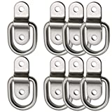 D Ring Tie Downs 8x Trailer Tie Down Anchors Ring Points Load 700lbs Surface Mount Bolt on D Ring Hooks Stainless Lashing Ring for Ratchet Tie Down Straps Motorcycle Atv Car Truck Bed Cargo Tie Downs
