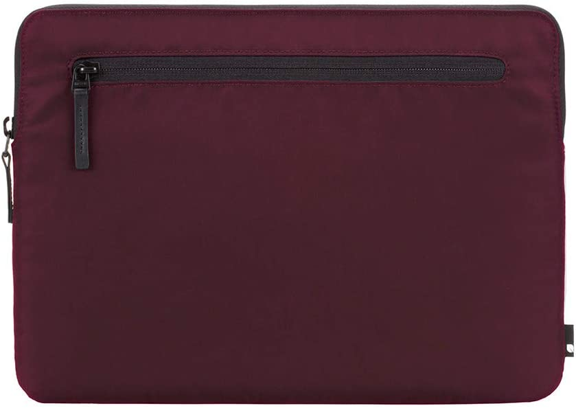 Incase Compact Foam Padded Flight Nylon Sleeve with Accessory Pocket for Most Tablets + Laptops up to 13 inches - Mulberry