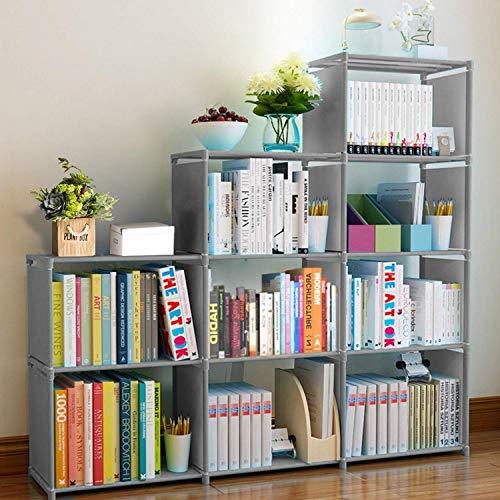 Clewiltess 9 Cube DIY Storage Bookcase,Bookshelf for Kids,Home Furniture Storage Shelves Closet Organizer Rack Cabinet for Bedroom Living Room Office, Grey