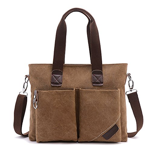 Carrier Brown Pan (Muchengbao Messenger Bag Laptop fashion slanted, portable, single-shoulder business College and Office bag (coffee brown))