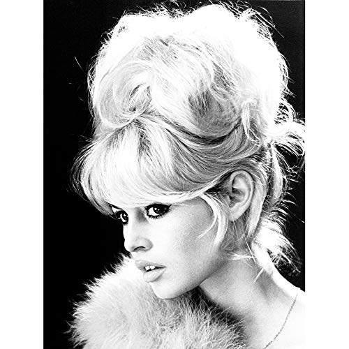 VINTAGE PHOTOGRAPHY BRIGITTE BARDOT ACTRESS BLACK WHITE MOVIE STAR 18X24'' POSTER ART PRINT LV11305