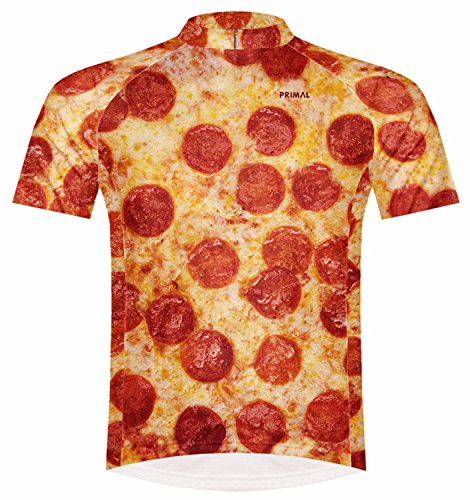 Primal Wear Pizza Cycling Jersey Men's Medium Short Sleeve (Spf Cycling Jersey)