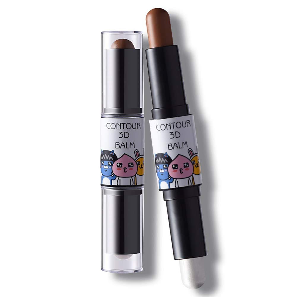 1pc Cosmetics Cream Contour Stick Highlighting Makeup Kit By Contouring Foundation Makeup Concealer Stick (Light Fair Light and Light Coffee 2#) Ohomr