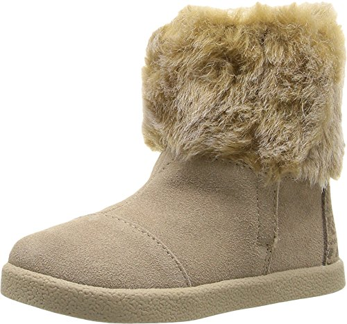 TOMS Kids Baby Girl's Nepal Boot (Infant/Toddler/Little Kid) Oxford Tan Suede/Faux Fur 2 M US Infant