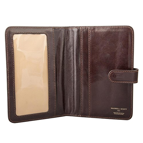 Maxwell Scott Personalized Brown Leather Travel Document Folder (Vieste) by Maxwell Scott Bags