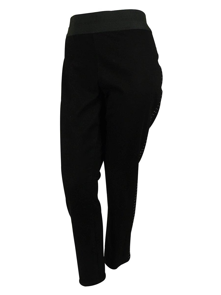 Style & Co. Women's Studded Jegging (P, Black Rinse)