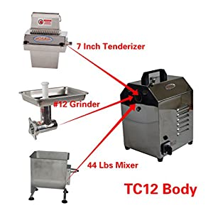 Hakka Meat Processing Machines Commercial Multi-functional Stainless Steel Electric Meat Processor Equipments (TC12-TS737-FME02)