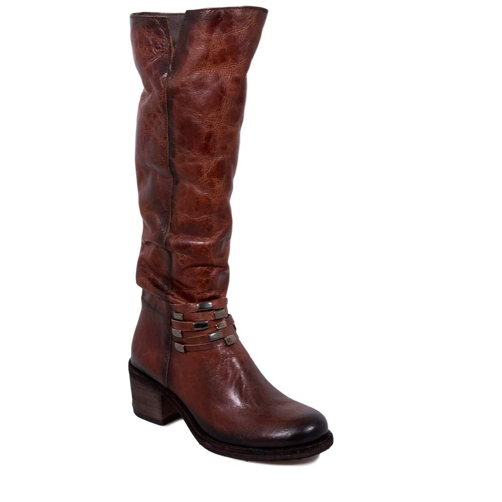 Felmini - damen schuhe - Falling in Love with Giani B289 - Zip High Stiefel - Genuine Leather - braun