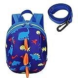 Uworth Cute Dinosaur Toddle Backpack Kids Backpack Boys Preschool with Harness Leash