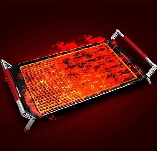 AN-LKYIQI Gril réglable température électrique sans fumée Chef recommandé chaleur uniforme barbecue enduit antiadhésif Gril Surface