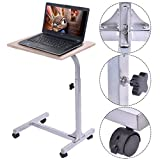 Costway Adjustable Laptop Notebook Desk Table Stand Holder Swivel Home Office Wheels