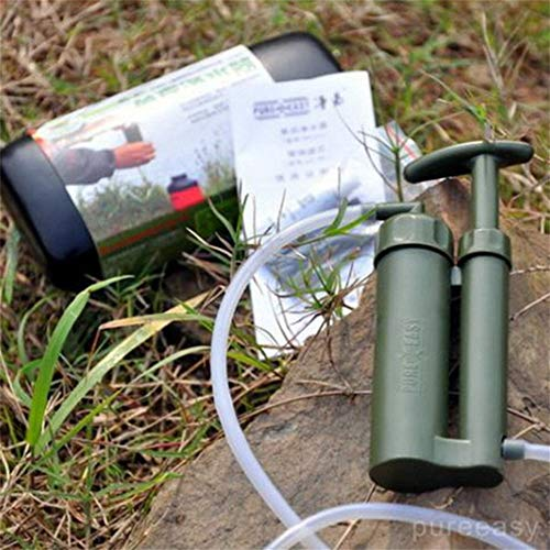 TiTTOP Portable Water Filter Lightweight Water Purifier Outdoor Soldier Water Cleaner Hiking Camping Survival Emergency Set