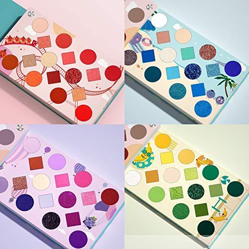 EYESEEK 64 Colors Eyeshadow Palette Professional High Pigmented Makeup Pallet Colorful Rainbow Color Makeup Eyeshadow Palette Matte Shimmer Glitter Eye Shadow Pallet