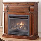 Duluth Forge Dual Fuel Vent Free Fireplace, 26,000 BTU, Remote Control, Chestnut Oak Finish Review