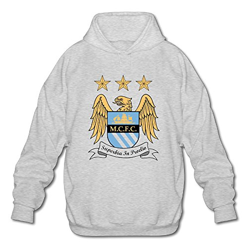 [BOOMY Manchester City Football Club Logo Man's Hooded Sweatshirt SIZE M] (Bay Watch Costumes)