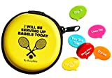 BusyBee Tennis Vibration Dampener in Fun Zipper Gift Pack. Best Shock Absorber (6 Count) Plus a Bonus:...