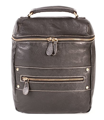 Oxbridge Satchel Shop, Borsa a zainetto donna nero small