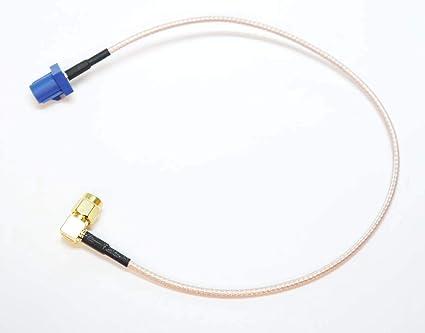 Autodily - Fakra C Macho a 90 Grados Sma Macho Conector RG316 ...