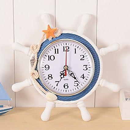 Cozyhoma - Reloj de Pared con diseño de Ancla, decoración náutica