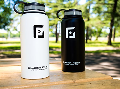 a4d715e2ca Glacier Point Vacuum Insulated Stainless Steel Water Bottle (32 OZ). Double  Walled Construction