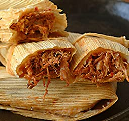 New Mexico Red Pork Tamales, with Free Red and Green Chile Sauce