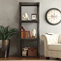 Inspire Q Sedgwick Vintage Industrial Modern Bracket Metal Bookcase