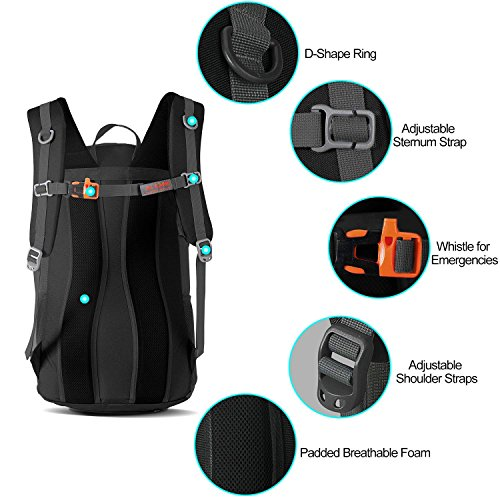 Women ONE Men AI School Packable Black Carry on Camping Foldable for Way C Cycling Outdoor 36L Backpack 3 xrY00qdwS