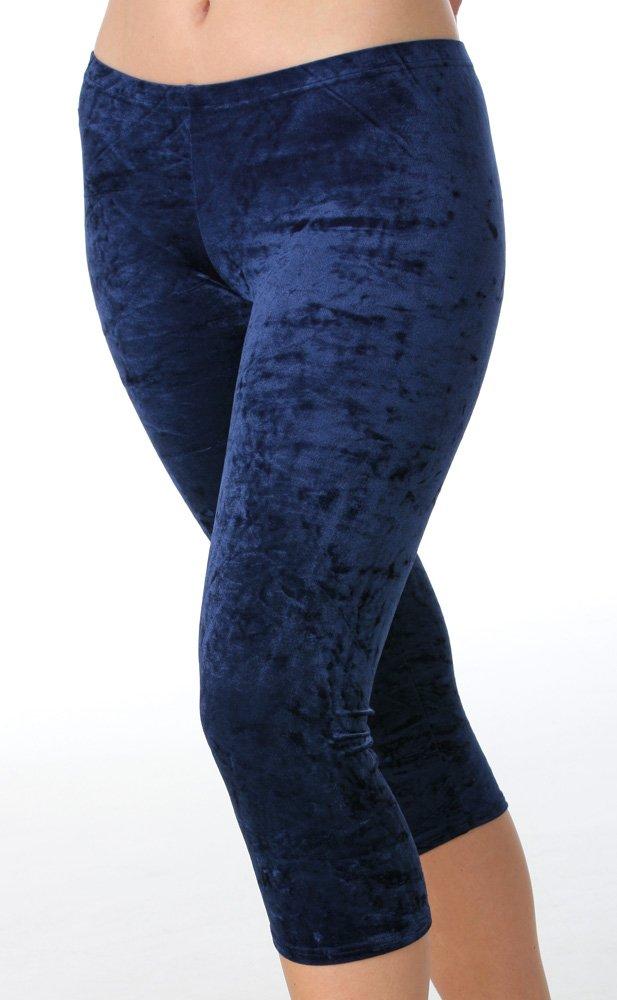 Fischer 77122 Samt Caprihose Mädchen Gymnastik Turn Sport Capri Hose in wolkiger Samt Optik, Ökotex 100 zertifiziert, verschiedene Größen und Farben Ökotex 100 zertifiziert Fischer Textil e.K.
