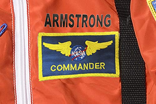 Aeromax PERSONALIZED Jr. Astronaut Suit with Embroidered Cap and NASA patches, ORANGE, Size ()