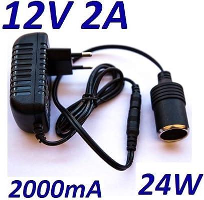 Cargador Corriente 12V 2A 2000mA 24W con salida para ...