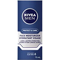 NIVEA MEN Protect & Care Face Lotion (75 ml), Aloe Vera Enriched Face Moisturizer To Prevent Skin from Drying Out…
