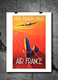 Air France Vintage Travel Poster Print 8x10 Print Vintage Advertisments Abstract Prints Wall Art for Home Decor Wall Decorations For Living Room Bedroom Office Ready-to-Frame