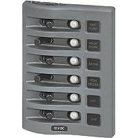 BLUE SEA SYSTEMS 4376 / Blue Sea 4376 WeatherDeck Water Resistant Circuit Breaker Panel - 6 Position - Grey