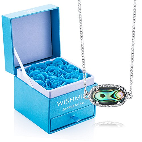 WISHMISS Sterling Silver 925 Infinity Endless Love Symbol Charm Bracelet for Women Gift for Mother's Day (Abalone Necklace Gift Set)
