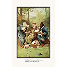 Buyenlarge 'Teddy Roosevelt's Bears: Teddy B and Teddy G at a Picnic' Paper Poster, 20 by 30-Inch