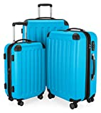 "HAUPTSTADTKOFFER Luggages Sets Glossy Suitcase Sets Hardside Spinner Trolley Expandable (20', 24' & 28') TSA (3 pcs/20""24""28"", Spree Cyan Blue)"