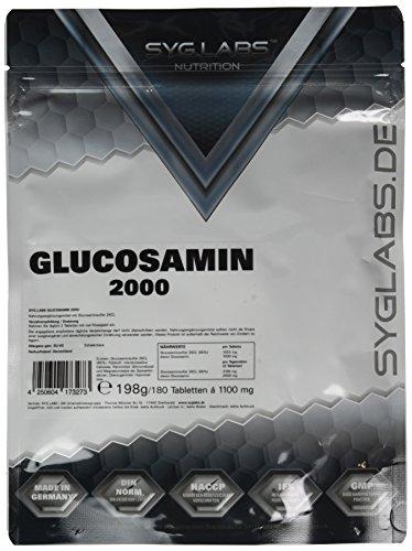 Syglabs Nutrition Glucosamin / Glucosamine 1000 mg - 180 Tabletten, 1er Pack (1 x 198 g)