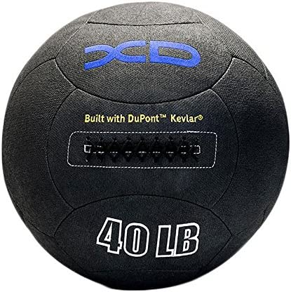 XD Kevlar Medicine Ball-18in Available 4-150lbs- Built with Durable Dupont Kevlar, Tacky Grip, Burst Resistant